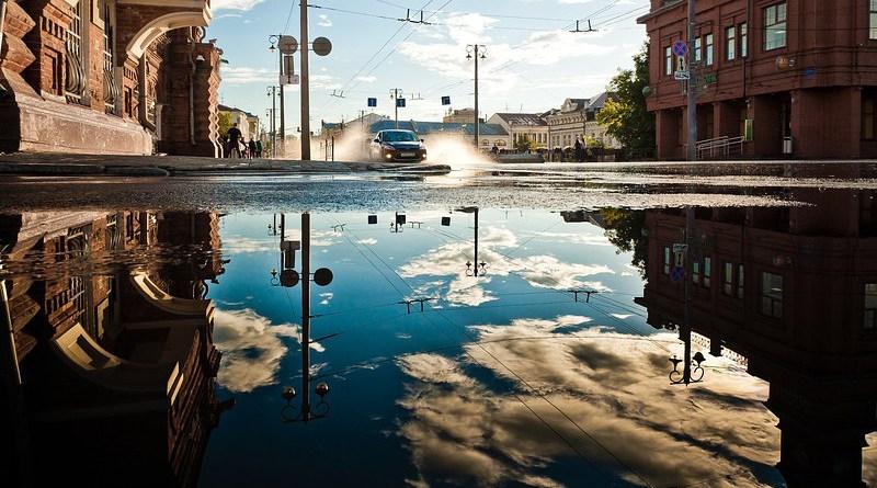 flood flooding city downtown