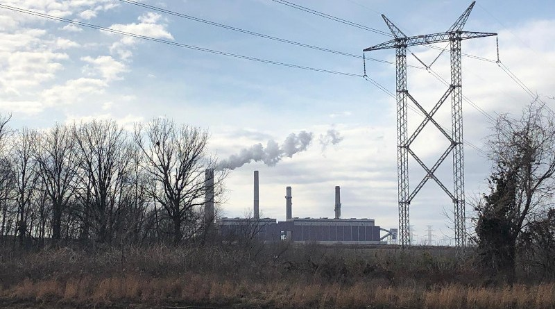The Gibson Generating Station is a coal-burning power plant located in Gibson County, Indiana. CREDIT: Emily Grubert, Georgia Tech