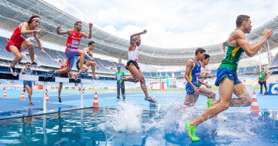 Run Race Running Action Athletes Competition Hurdle Men People