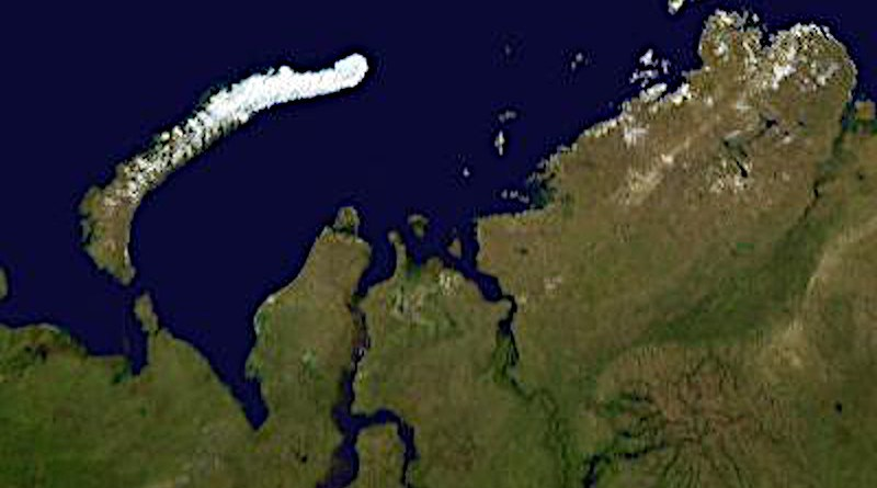 Satellite image of the Gulf of Ob, in Northern Russia at the mouth of the Ob River. It is the world's longest estuary. Credit: Wikimedia Commons