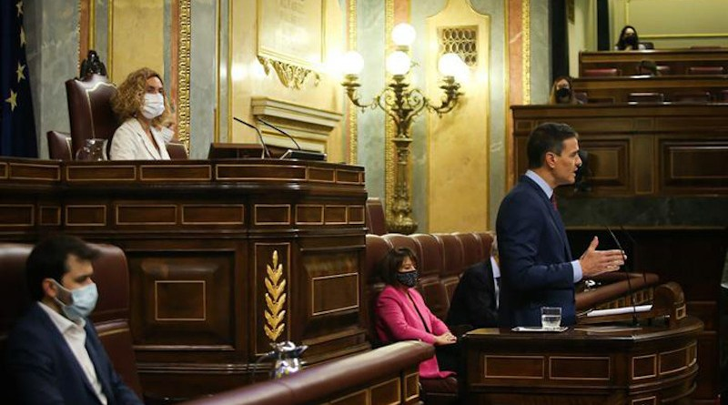 Spain's Prime Minister Pedro Sánchez speaks in the Lower House of Parliament. Photo Credit: Congreso de Diputados