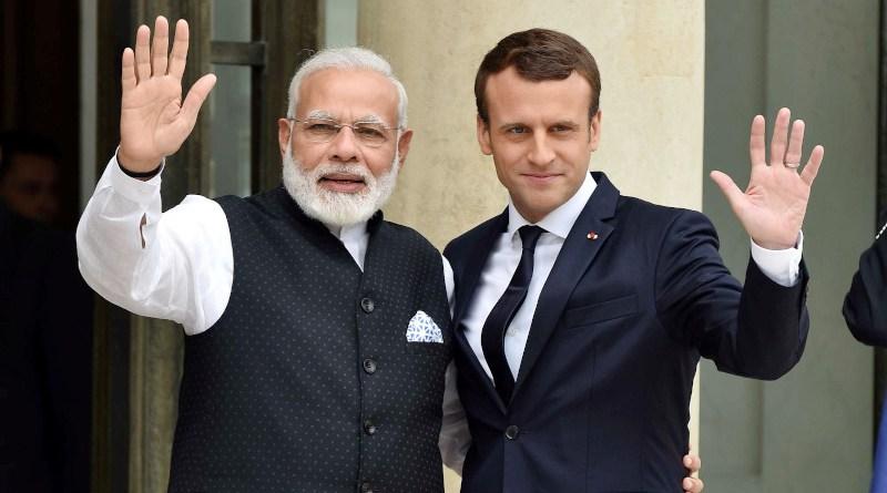 File photo of India's Prime Minister Narendra Modi and France's President Emmanuel Macron. Photo Credit: PM India