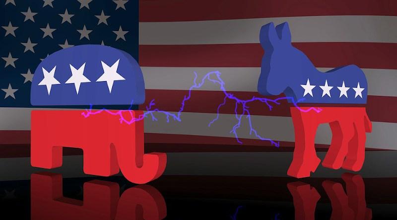 republican democrat logo donkey elephant