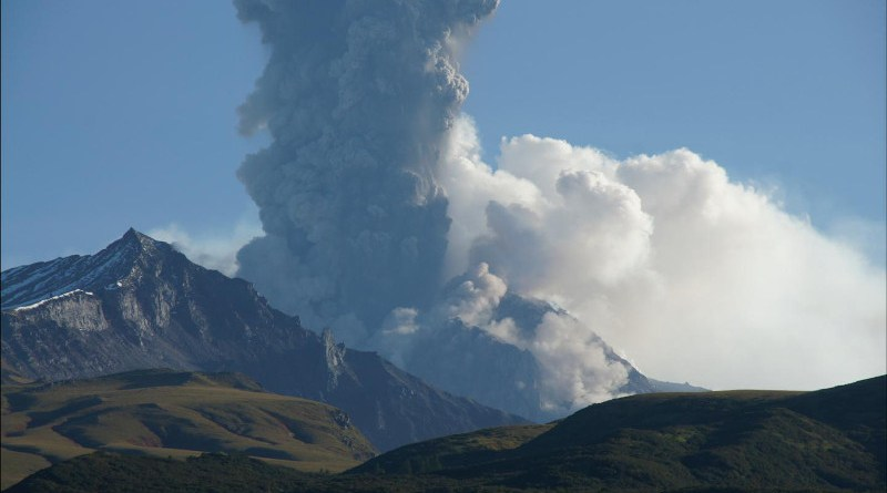 Shiveluch volcano has had more than 40 violent eruptions over the last 10,000 years. The last gigantic blast occurred in 1964, creating a new crater and covering an area of nearly 100 square kilometers with pyroclastic flows. But Shiveluch is actually currently erupting, as it has been for over 20 years. CREDIT Michael Krawczynski, Washington University in St. Louis