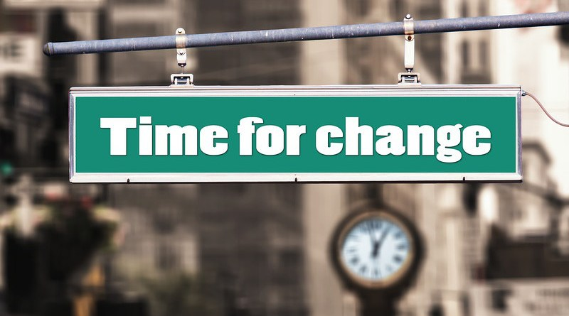 Change New Beginning Risk Road Clock Street Sign