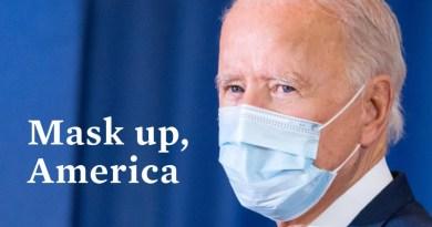 US President Joe Biden advocating wearing facemask. Photo Credit: White House