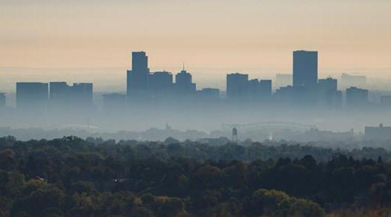 The city of Denver, Colorado, blanketed by smog. CREDIT National Oceanic and Atmospheric Administration