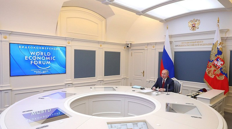 Russia's President Vladimir Putin during the session of Davos Agenda 2021 online forum organised by the World Economic Forum. Photo Credit: Kremlin.ru