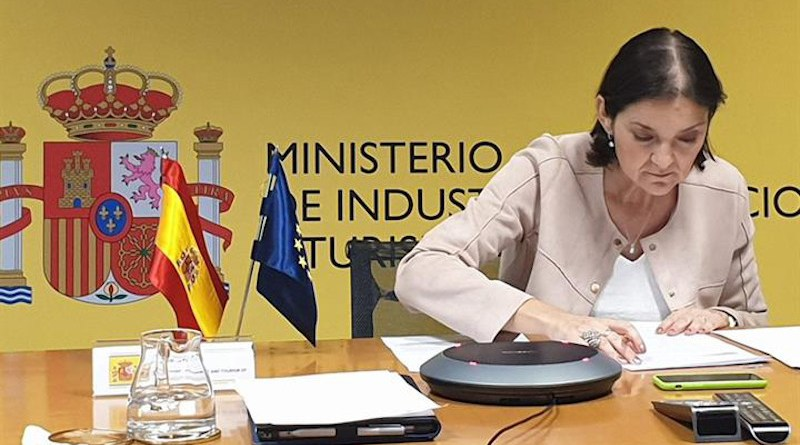 Spain's Minister for Industry, Trade and Tourism, Reyes Maroto. Photo Credit: Moncloa