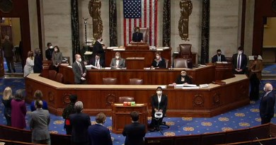 On January 13, 2021, the United States House of Representatives voted to adopt an article of impeachment accusing President Donald Trump of incitement of insurrection. Photo Credit: United States House of Representatives, Wikipedia Commons