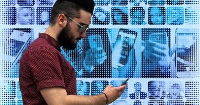 Personal Network Smartphone Hand Photomontage