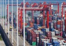 Containers stacked at Sri Lanka's Colombo port. Photo Credit: Rehman Abubakr, Wikipedia Commons