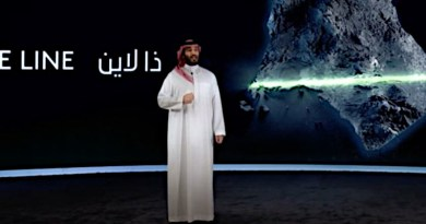 "Saudi Crown Prince Mohammed bin Salman announces ""The Line"" project at NEOM. (SPA)"