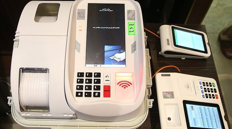 Electronic voting machines in Iran. Photo Credit: Tasnim News Agency