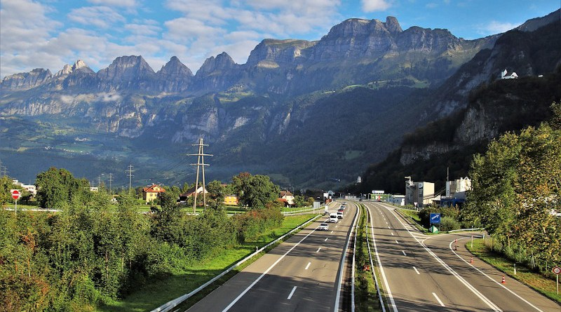 Alpine Highway Panorama Far View Road Travel Alps