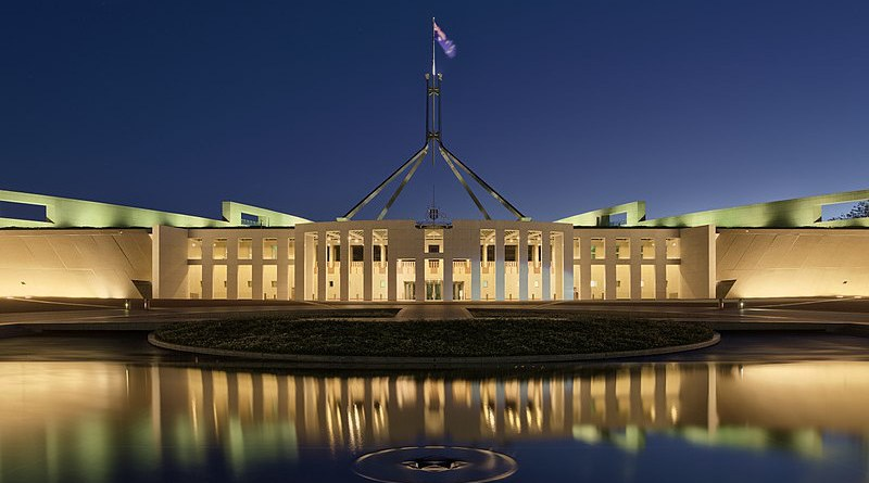Parliament House, Canberra, Australia. Photo Credit: Thennicke, Wikipedia Commons