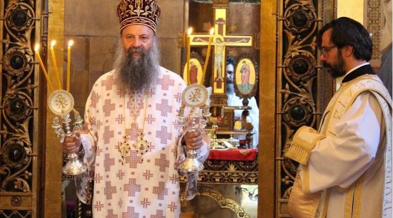 Serbia's Metropolitan Porfirije Peric during service. Photo: mitropolija-zagrebacka.org