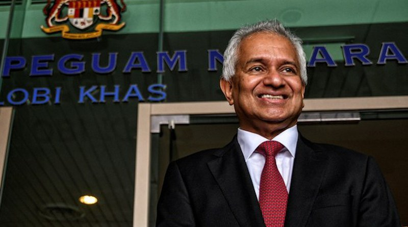 Tommy Thomas poses outside his office in Putrajaya after being appointed as Malaysian attorney general, June 6, 2018. Photo Credit: S. Mahfuz/BenarNews