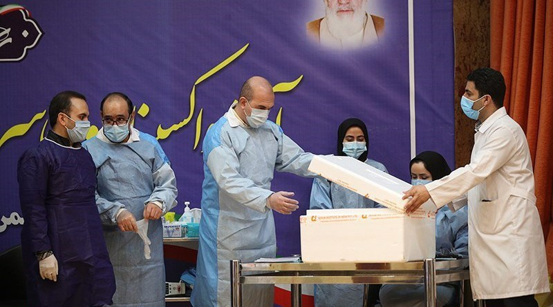 Iran receives Russia's Sputnik V coronavirus vaccine. Photo Credit: Tasnim News Agency
