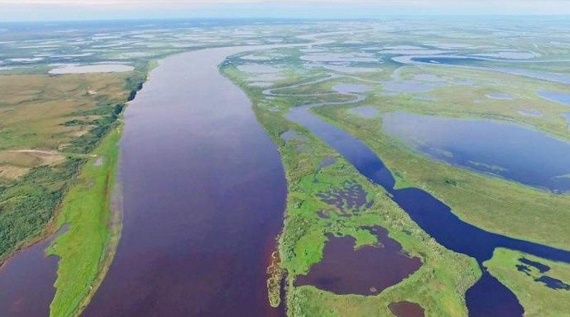 Example of inland waters studied in western Siberia. CREDIT Egor Istigechev