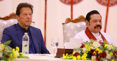 Pakistan's Prime Minister Imran Khan with Sri Lanka's Prime Minister Mahinda Rajapaksa. Photo Credit: Sri Lanka PM Office