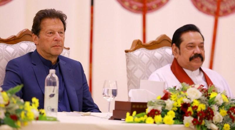 Pakistan's Prime Minister Imran Khan with Sri Lanka's Prime Minister Mahinda Rajapaksa. Photo Credit: Sri Lanka PM Office
