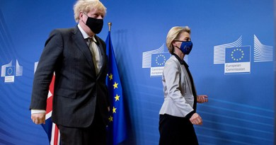 Visit of Boris Johnson to the European Commission (December 2020). Photo: Etienne Ansotte - EC Audiovisual Service / © European Union, 2020