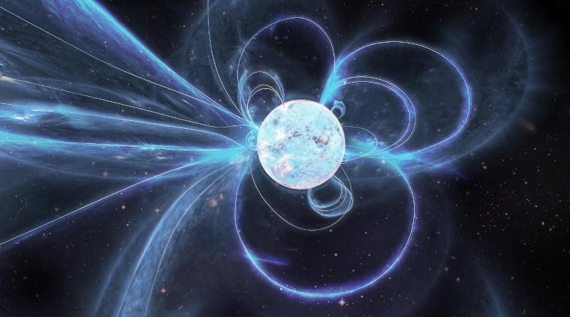 Artist's impression of the active magnetar Swift J1818.0-1607. CREDIT Carl Knox, OzGrav.