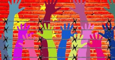 china flag wall human rights prison