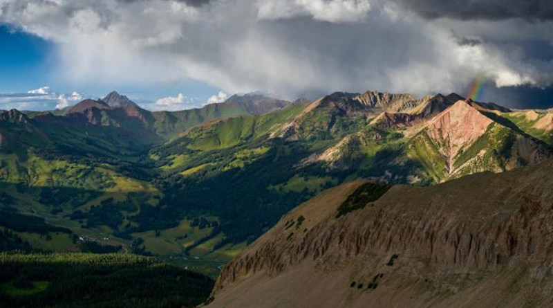 A monsoon rain event in the East River watershed of Colorado, a pristine, high elevation, snow-dominated headwater basin of the Colorado River. CREDIT Xavier Fane