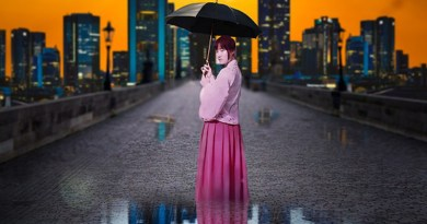 china climate change weather umbrella woman