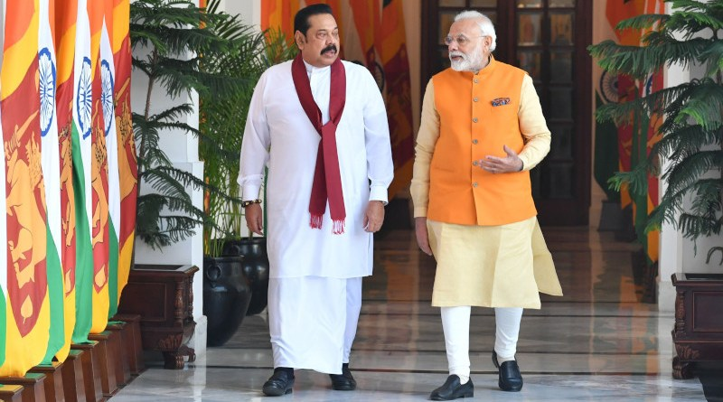 File photo of The Prime Minister, Shri Narendra Modi with the Prime Minister of the Democratic Socialist Republic of Sri Lanka, Mr. Mahinda Rajapaksa. Photo Credit: PM India
