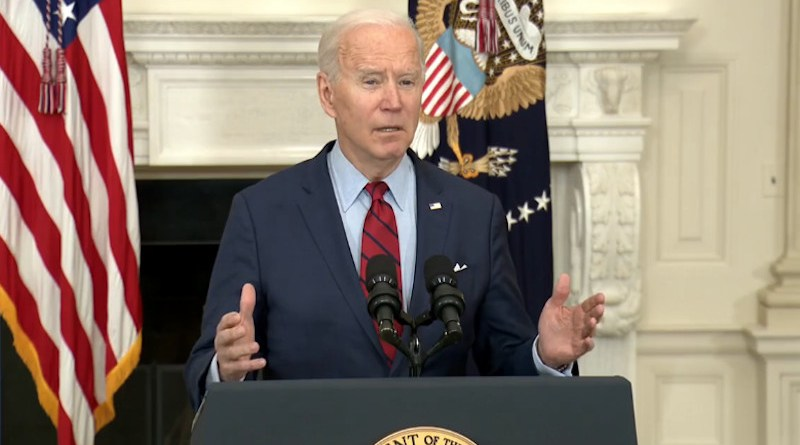 US President Joe Biden. Photo Credit: White House video screenshot