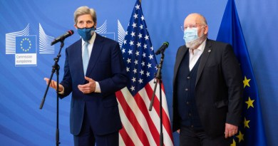 US climate envoy John Kerry with EU Vice President Frans Timmermans. Photo Credit: State Dept, Twitter