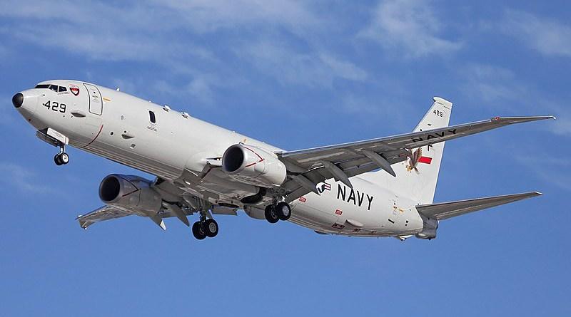 File photo of a US Navy P-8 Poseidon. Photo Credit: Darren Koch, Wikipedia Commons