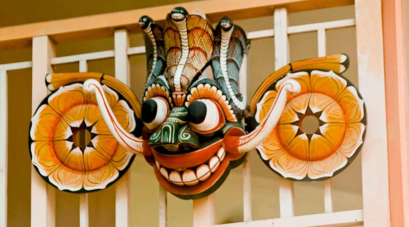 Devil mask and Devil dance are originally from the culture of Yakshas. Photo Credit: Hafiz Issadeen (YIM Hafiz), Wikipedia Commons
