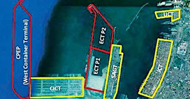 Colombo port layout. (Illustration supplied)