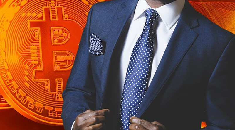 man Bitcoin Business Cryptocurrency Blockchain