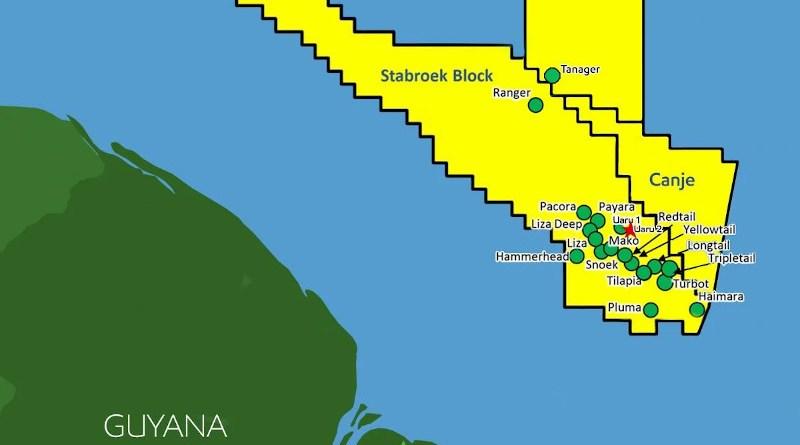 Location of Stabroek Block offshore Guyana. Credit: ExxonMobil