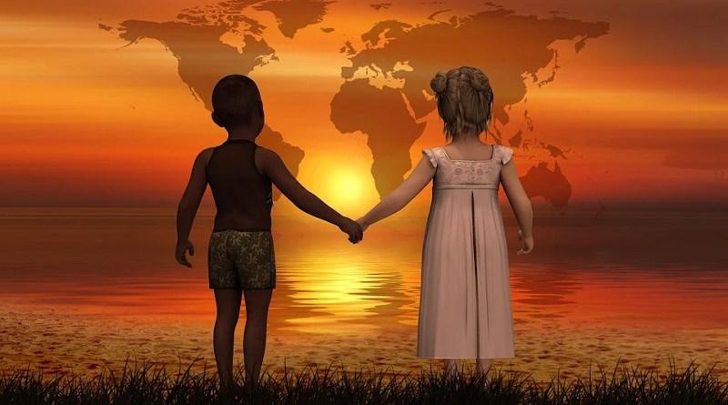 hope peace children globe hands earth