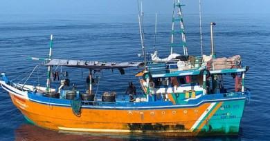 Sri Lankan boat intercepted by India.