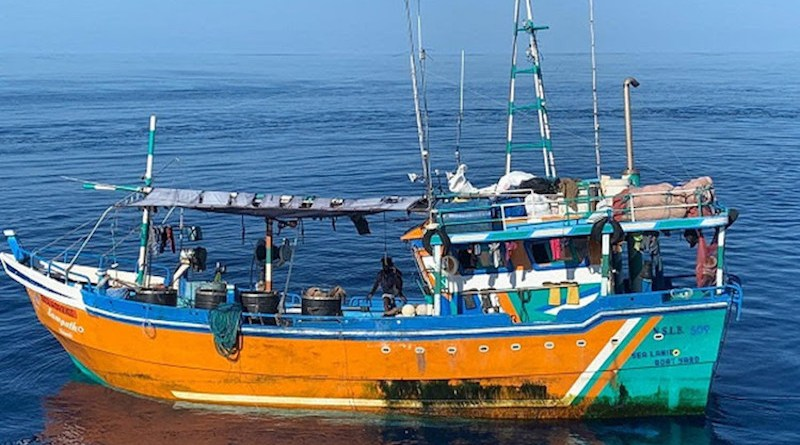 Sri Lankan boat intercepted by India.