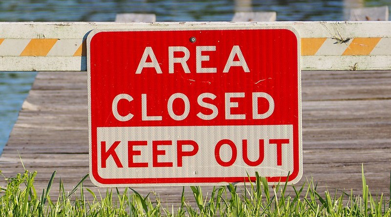 keep out Area Closed Sign Closed Warning Restricted