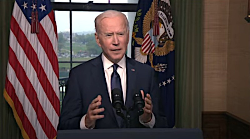 President Biden On The Way Forward In Afghanistan. Photo Credit: White House video screenshot