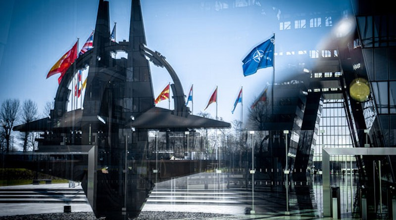NATO headquarters flag star Photo Credit: NATO