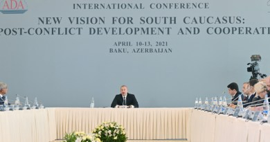 Azerbaijan's President Ilham Aliyev Attends International Conference Held At ADA University (Photo supplied)