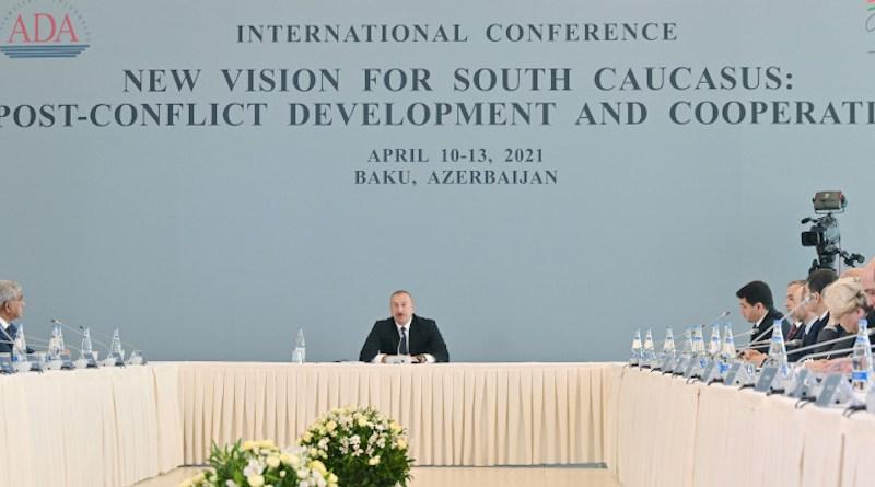 Azerbaijan's President Ilham Aliyev Attends International Conference Held At ADA University (Photo supplied)