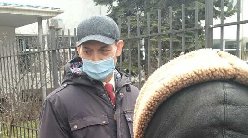 Viktor Stashevsky outside Gagarin District Court, Sevastopol, 29 March 2021 Crimean Human Rights Group