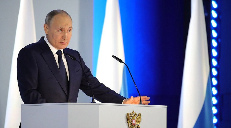 Russia's Vladimir Putin during Presidential Address to the Federal Assembly. Photo Credit: Kremlin.ru