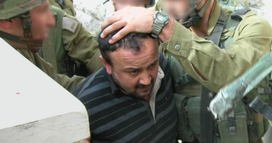 Marwan Barghouti being arrested by Israeli soldiers in Ramallah during Operation Defensive Shield. Photo Credit: IDF Spokesperson's Unit, Wikipedia Commons